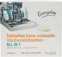 EVERYDAY (COLRUYT) VAATWASTABLETTEN ALL IN 1 | De beste vaatwasmiddelen  - Test Aankoop