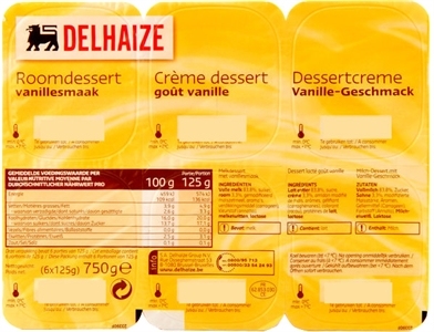 DELHAIZE Roomdessert vanillesmaak