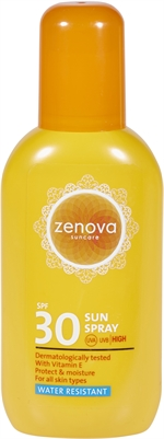 ZENOVA (ACTION) SUN SPRAY  SPF 30 | Zonnecrème, zonnelotion of zonnespray?